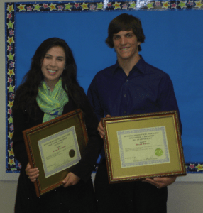2011 RHA Scholarship winners Jenna Leonardo - Scholarship Winner and David Harris - Award of Merit