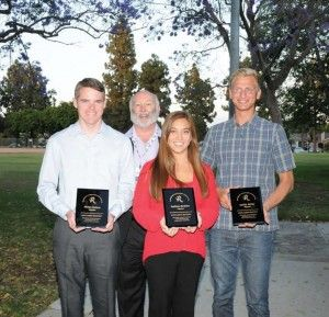 2014 RHA High School Awardees (l tor) Philip Paulson, Dr. Milt Houghton (Scholarship Selection Chair), Madisen Swallow and Austin Geller