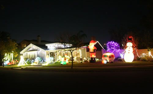 2015 Rossmoor Christmas Lights Celebration - Holiday Light Post- 2682 Brimhall Rossmoor