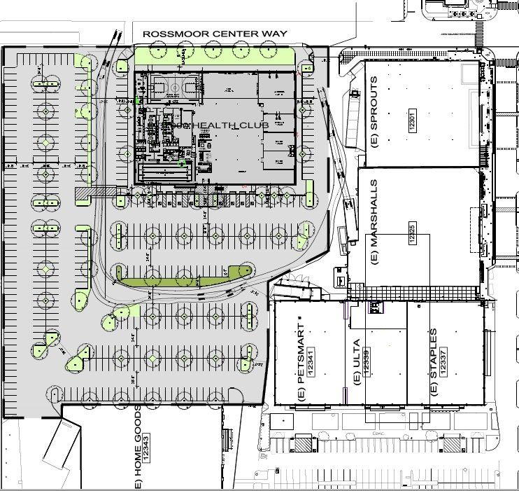 Proposed LA Fitness Project in the Shops at Rossmoor