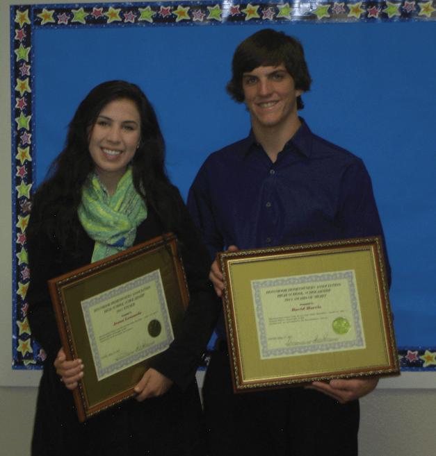 2011 RHA Scholarship winners Jenna Leonardo - Scholarship Winner and David Harris - Award of Merit