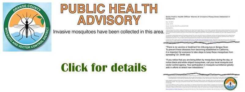 Public Health Advisory for Rossmoor & Southern California
