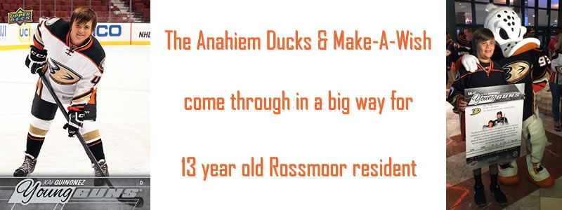 Anaheim Ducks & Make-A-Wish come through for Rossmoor 13 year old