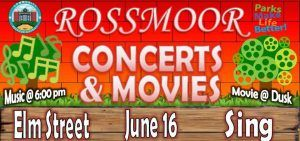 """Concerts and Movies in the Park are back this summer with a terrific line up. For June, Elm Street will play for your listening and dancing pleasure followed by the family film """"Sing."""" The band starts at 6:00 p.m. followed by the movie at dusk. Come out and join us for one or both at Rush Park. Please bring your blankets and chairs, insect repellent and even a picnic dinner. These events are free and very popular with the neighborhood, so you may want to show up a bit early. Our next concert & movie event will be on Friday July 14th followed by the third installment on Friday August 18th. Plan to join in the fun!"""