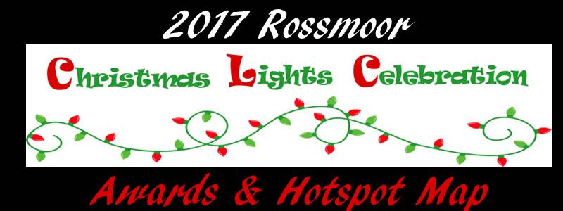 2017 Rossmoor Christmas Lights Awards & Hotspot Map