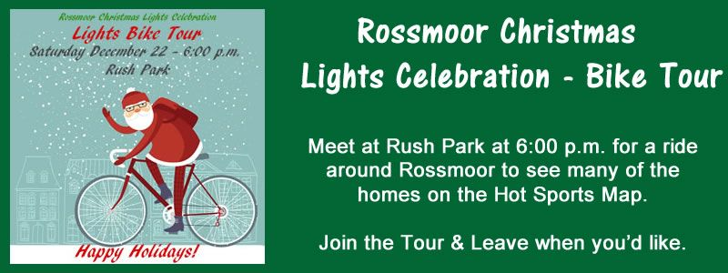 2018 Rossmoor Christmas Lights Celebration Bike Tour