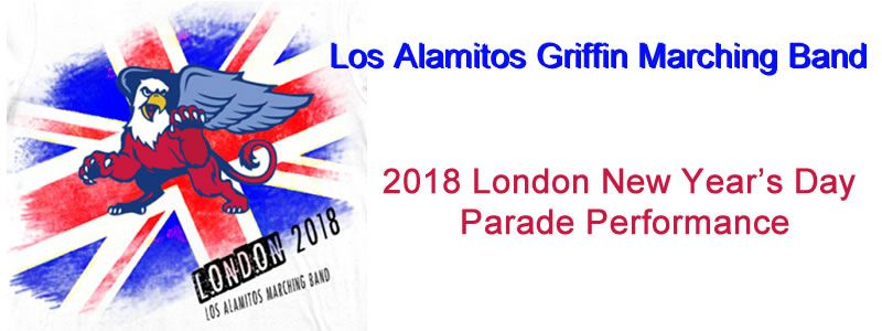 Los Alamitos High School Griffins Marching Band - London 2018 New Year's Day Parade