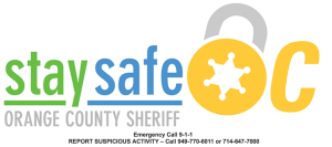 Stay Safe Rossmoor - If You See Something Say Something - Call the OCSD - 714.647.7000