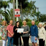Our Neighborhood Watch Sign Committee. From the left: Janice Manis, Ken Yee, District 2 Supervisor Michelle Steel, RHA President Beverley Houghton, John Merchant, and RHA Neighborhood Watch Committee Chair Dorothy Fitzgerald.