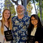 2019 RHA Scholarship Award recipients Natalie Petersen and Nyssa Yota with RHA Scholarship chair Milt Houghton