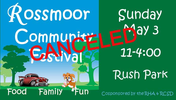 2020 Rossmoor Community Festival - Canceled