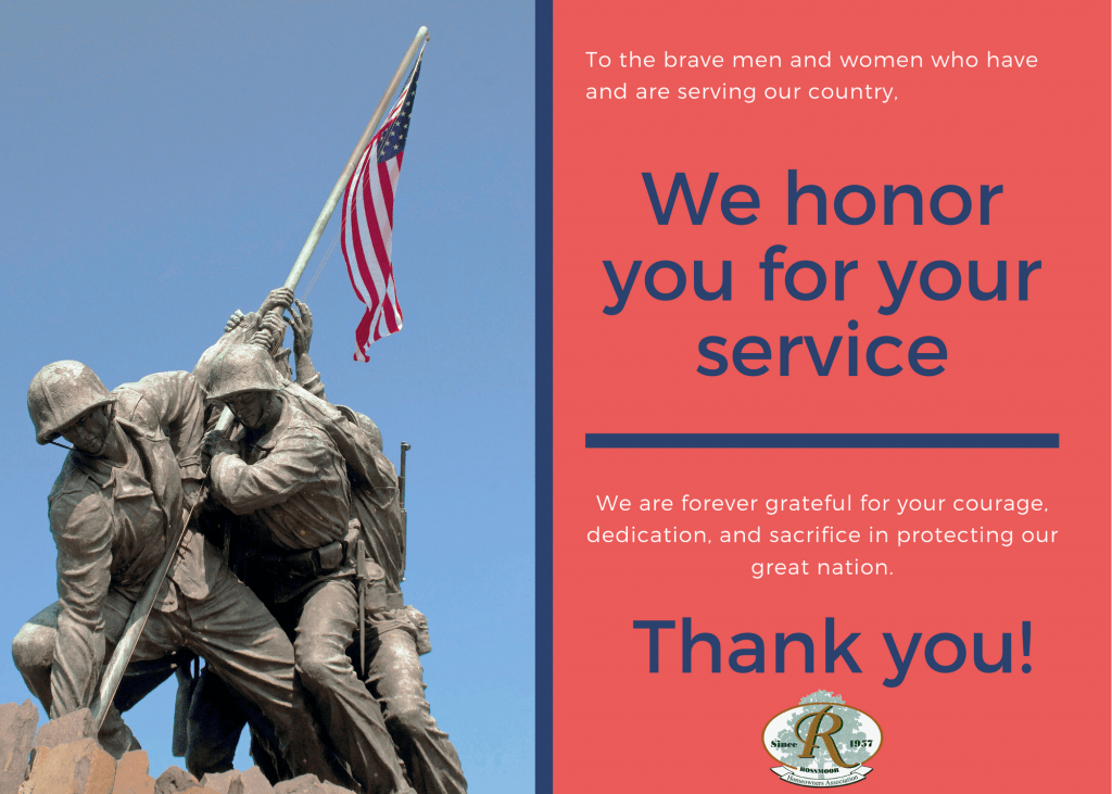 Veterans Day 2020 - We salute You | Rossmoor Homeowners Association