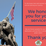 Veterans Day 2020 - We salute You | Rossmoor Homeowners Association