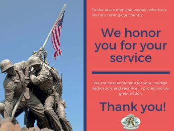 Veterans Day 2020 - We salute You   Rossmoor Homeowners Association