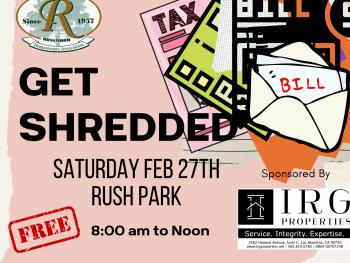 Our Rossmoor - Get Shredded February 27, 2021 Rush Park