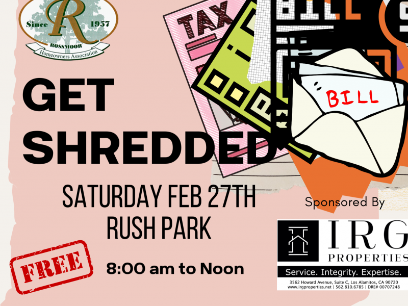 Come Get Get Shredded February 27, 2021 at Rush Park - 8:00 To Noon