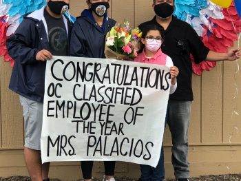 Cassandra Palacios, LAHS Nurse, has been selected as the 2021 Orange County Classified Employee-of-the-Year for Health and Student Services