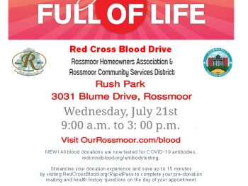 Rossmoor Red Cross Blood Drive July 2021