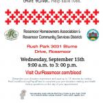 Rossmoor Red Cross Blood Drive September 2021
