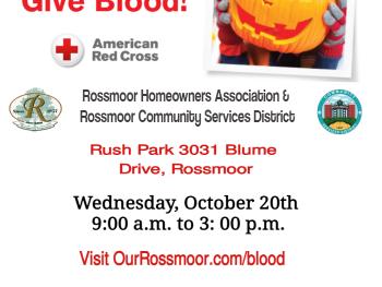 Rossmoor Red Cross Blood Drive - October 2021